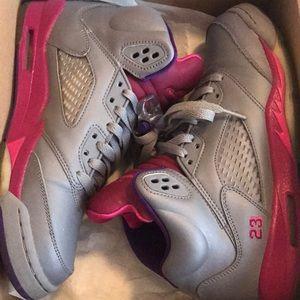 Girls retro 5s size 6.5